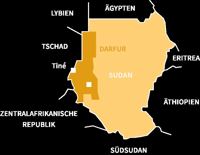 Karte Sudan